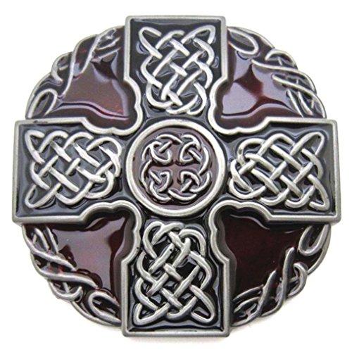 MASOP Round Celtic Trinity Rope Knot Cross Belt - Belt Buckle Kilt