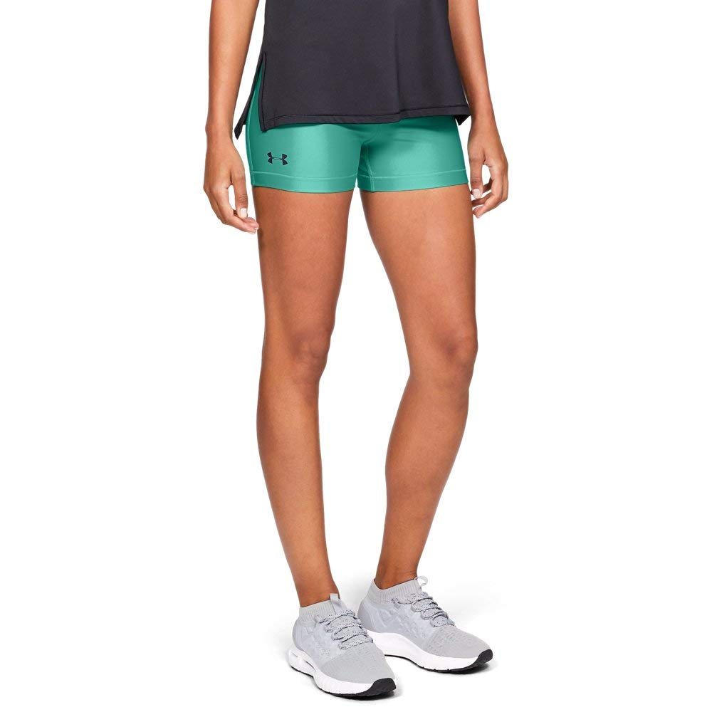 Under Armour Women's HeatGear Armour Shorty, Green Malachite (349)/Black, X-Small