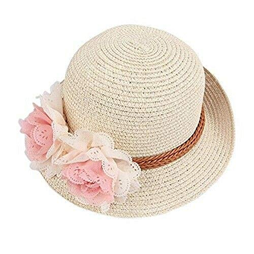 Specials On Beige Fitted Beach Toddlers Sun Hats for Kids Girls Free Size (2-7 Years Old) Tkmiss from Unknown