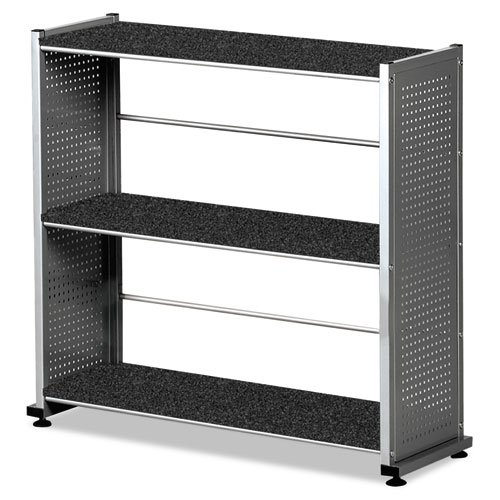 Mayline Small Office – Home Office Accent Shelving (3-Shelf) In Metalic Gray Paint,