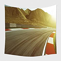 Home Decor Tapestry Wall Hanging Motion Blurred Race Track 494638129 for Bedroom Living Room Dorm