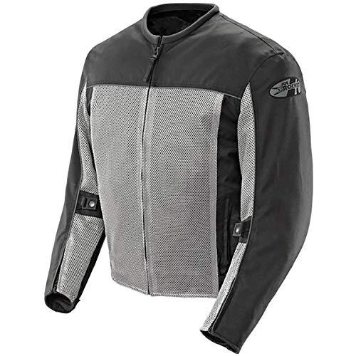 Joe Rocket Velocity Mens Grey/Black Mesh Motorcycle Jacket - X-Large