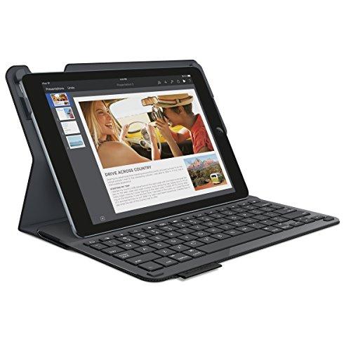 Logitech Type+ Schutzhülle mit integrierter QWERTZ Tastatur für Apple iPad Air 2 kohlenschwarz