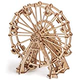 Wood Trick FERRIS WHEEL Observation Wheel Mechanical Models 3D Wooden Puzzles DIY Toy Assembly Gears Constructor Kits for Kids, Teens and Adults