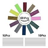 Hot Glue Gun Sticks, 80pack 12 Colors for Mini Hot Melt Glue Gun(20-30W)