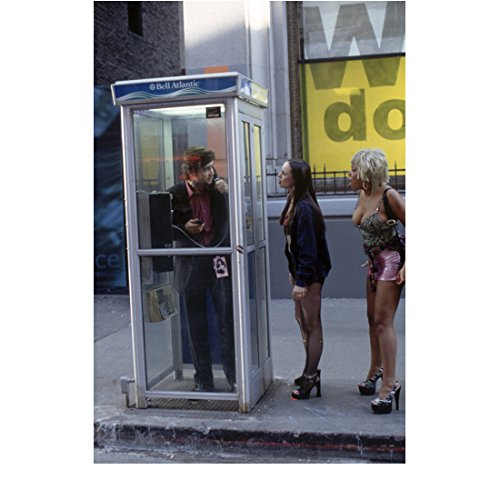 - Phone Booth Colin Farrell as Stu Shepard in a phone booth with Arian Ash as Corky 8 x 10 Inch Photo
