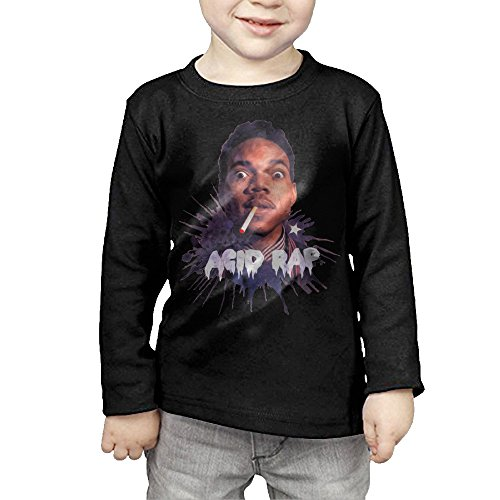 [MHGJ Kids Unisex Chance The Rapper Long Sleeve T Shirts 2 Toddler Black] (Alvin And The Chipmunks Costumes For Kids)