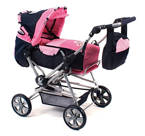 Bayer Chic 2000 562 46 - Super-Kombi Road Star, Pink Checker, Puppenwagen