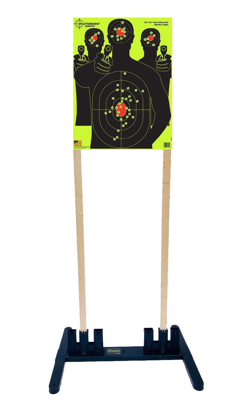 Splatterburst Targets - Multi - Width Polymer Target Stand - Excellent for All 6-24 Inch Wide Targets