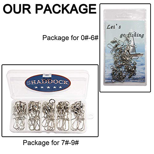 Fishing Ball Bearing Swivels with Duo Lock Snaps - 25Pcs Copper Stainless Steel Welding Rings Fishing line connectors High Strength Saltwater Big Game Fishing Swivel