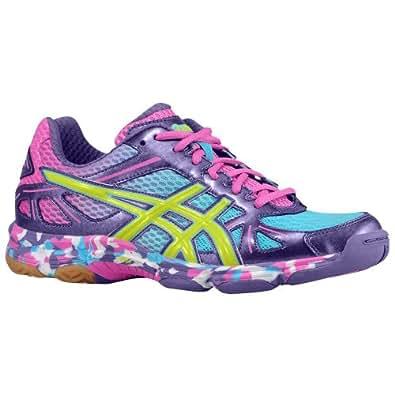 Asics Women's Gel-Flashpoint Volleyball Shoe, Grape/Lime/Hot Pink, 8.5 M US