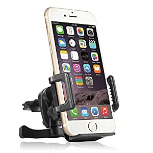Car Air Vent Cell Phone holder, Getron Universal Cell Phone Air Vent Car Mount Holder Cradle Stand for Smartphone Up to 3.94 Inch(10 cm) Wide, supports iPhone 6 (4.7)/ Plus (5.5)/ 5s/ 5c/4s/4, Samsung Galaxy S6/S6 Edge/S5/S4/S3/ Note 4/3, Google Nexus 5/4, LG G3, Nokia, Xperia, Moto, HTC and Other Smartphones GT-CSH03