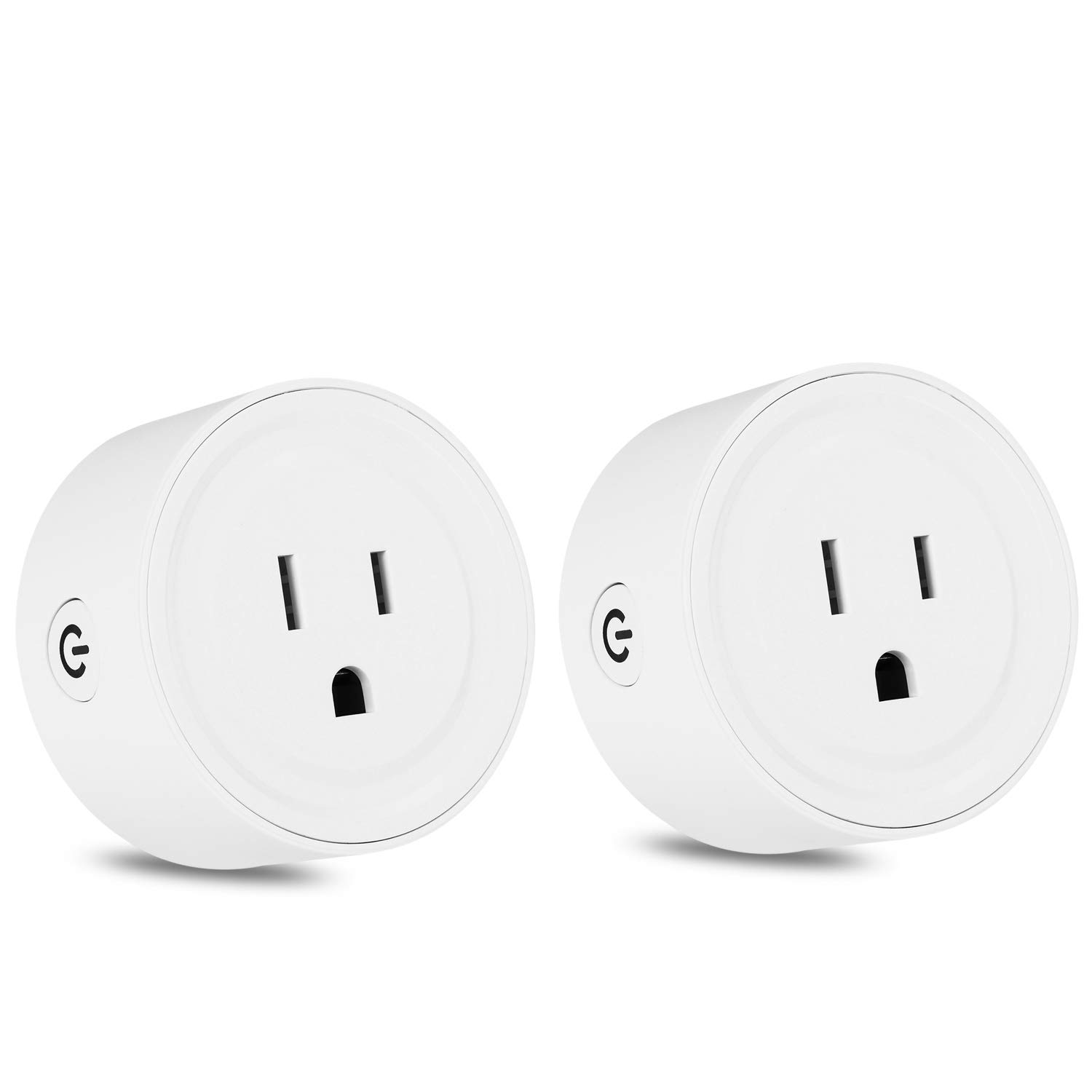 Wifi Smart Plug Mini Socket Outlet Power Switch Works With Amazon Alex Google Home Remote Control By App No Hub Required Time Fuction(2 Packs)