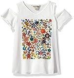 Lucky Brand Toddler Girls'Graphic Tee, Penny Whisper White, 2T