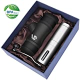Portable Mini Espresso Maker& Coffee Grinder Christmas Gift Set,VDS Hand Held Pressure Caffe Espresso Machine,Coffee Maker and Manual Coffee Grind for Outdoor,Office,Travel or Morning Ground Coffee