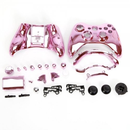 (YHG Replacement Parts for Chrome Xbox 360 Controller Shell [Pink])