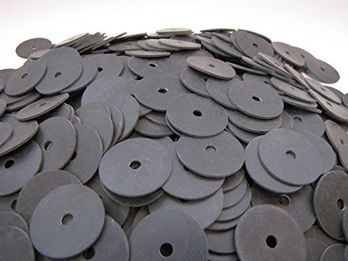 (100) Endeavor Series Neoprene Rubber Fender Washers in Pop-Up Storage Box - 1 1/2'' OD X 1/4'' ID X 1/16'' Thickness - 60 Duro - Endeavor Series Washers