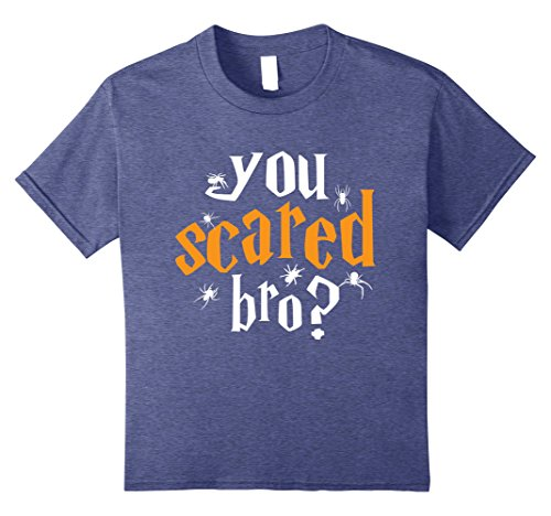 Kids You Scared Bro Brother & Little Sister T shirt for Child 12 Heather Blue - Big Sister Little Brother Halloween Costumes