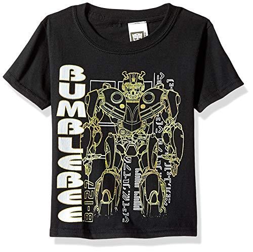 Transformers Little Bumblebee Movie Silhouette Boys T-Shirt, Black, 7]()