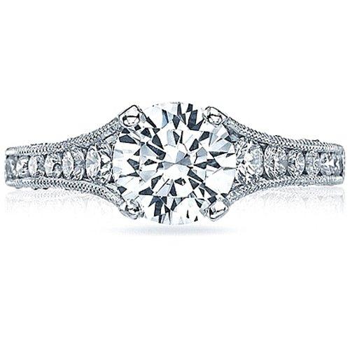 Tacori Semi Mount Diamond Engagement Ring in 18K White Gold (5/8 cttw) ()
