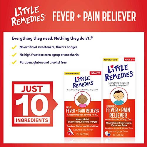 Little Remedies Infant Fever & Pain Reliever   Natural Berry Flavor   2 FL OZ