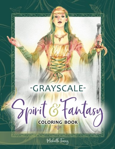 Spirit & Fantasy Coloring Book: Grayscale Edition