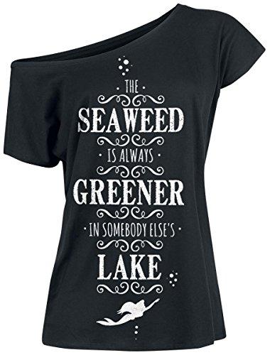 Arielle Seaweed Damen T-Shirt Schwarz
