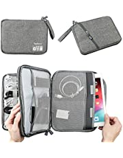Double Layer Electronic Accessories Organizer, Travel Gadget Bag for Cables, USB Flash Drive, Plug and More, Perfect Size Fits for iPad