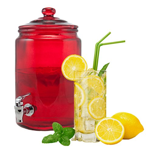 HAMPSHIRE RED DISPENSER (Glass Tea Jug With Spigot)