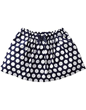 Baby Girls Polka Dot Skirt (Navy, 6 Months)