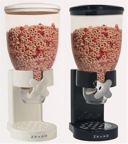 Zevro - Dispensador de cereales y comida deshidratada, color blanco: Amazon.es: Hogar