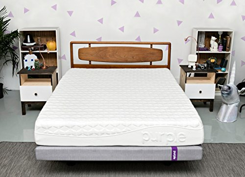 Purple Twin XL Mattress | Hyper-Elastic Polymer Bed Supports Your Back Like A Firm Mattress and Cradles Your Hips and Shoulders Like A Soft Mattress - Cooler and More Supportive Than Memory Foam ()
