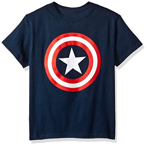Marvel Boys' Big Boys' Avengers T-Shirt, Navy, LARGE -