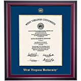 West Virginia WVU Mountaineers Diploma Frame Ivory Maroon Matting Embossed Seal