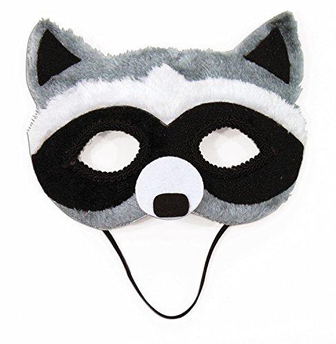 (Raccoon Animal Fancy Eye Mask Adult Child Faux Fur Half Costume)