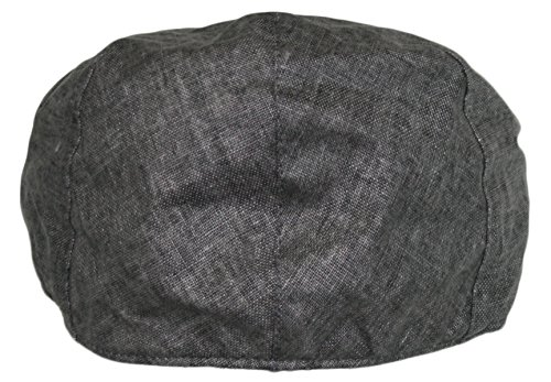f88655133ab Men s Linen Gatsby Newsboy Golf Flat Ivy Hat (GREY