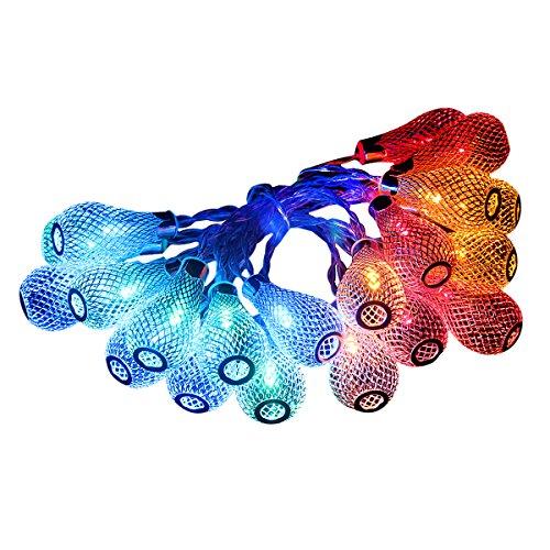 Dailyart® 20er LED Lichterkette Metalltropfen Multi Farbe LEDs Batteriebetrieb