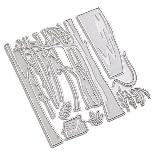 Merssavo Trees and House Patterns Cutting Dies Stencil Scrapbooking Card Embossing Craft Decorative Craft