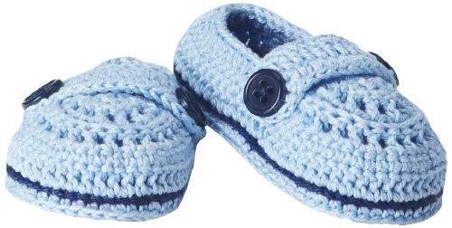 Jefferies Socks Baby-Boys Infant Baby Mocs Bootie, Light Blue, Newborn