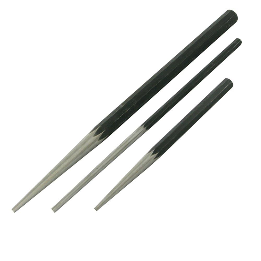 Silverline PC16 Jeu de 3 poin/çons coniques longs