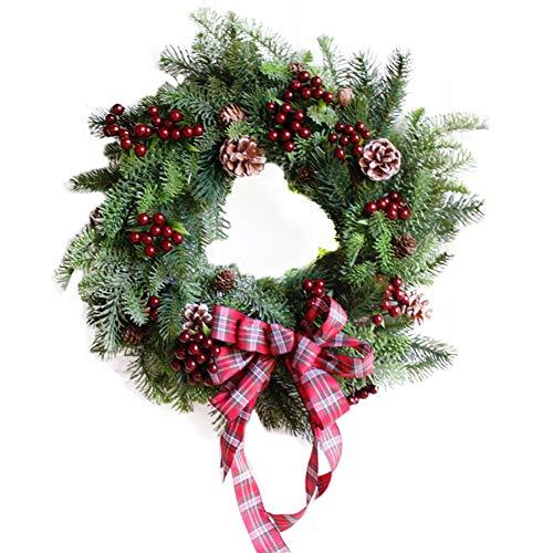 HORHIN Merry Christmas Door Wreath Home Decor 18