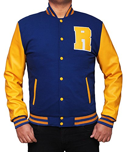 Men Riverdale KJ Apa Costume for Halloween 2017 - Cosplay Leather Jacket PU | Blue, M