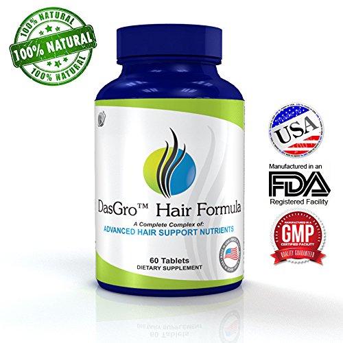 Formule DasGro cheveux: All-Natural Hair croissance Vitamines, Réparations Les follicules pileux, aide Stop Loss cheveux, stimule la croissance des cheveux, favorise plus épais, Fuller et à croissance plus rapide des cheveux! (Approvisionnement Jour 30)
