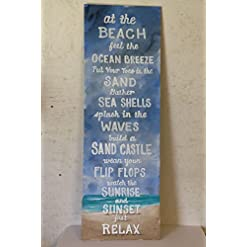 51JQOjZ5bOL._SS247_ 100+ Wooden Beach Signs and Wooden Coastal Signs