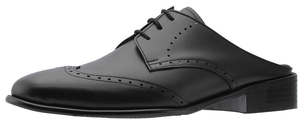 Holstyle Handmade Men's Wing-tip Lace-up Leather Oxford Dress Slippers Mules & Clogs Slip-On Slippers Shoes HSB-1505SL black 10.5 by Holstyle