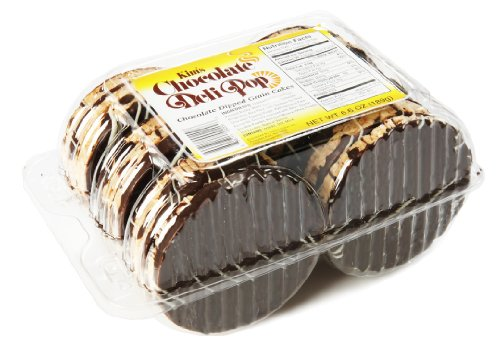 Kim's Chocolate Deli Pop, Chocolate Dipped, 6.6 Ounce (Case of 6, 18 Pieces/case) Dark Chocolate Rice Cakes