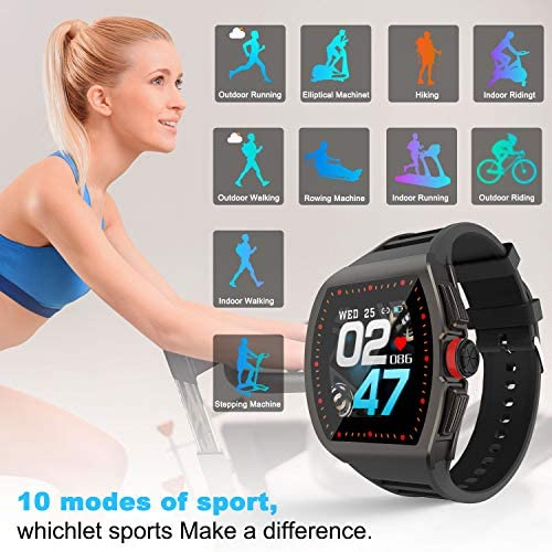 [1.4-inch Full Touch Smart Watch] GPS Running Watch with a Blood Pressure/Heart Rate Test, Calorie Calculator/Female Menstrual /Sleep Information Notification/Incoming Call Reminder/Rejection 51JQP3clAYL