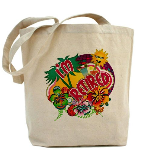 Cafepress–Tropical pensionamento–Borsa di tela naturale, panno shopping bag
