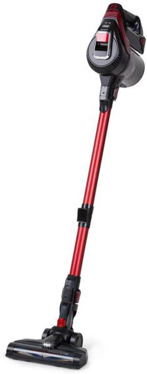 Klarstein Cleanbutler 3G Turbo Aspiradora de batería - Aspiradora de ciclón, Aspiradora sin Bolsa, Boquilla con luz LED, 0,7 litros de Capacidad, Apto para alérgicos, HEPA13, Rojo-Negro: Amazon.es: Hogar