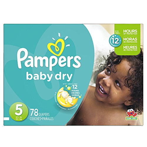 Pampers Baby Dry Diapers Size 5, 78 Count
